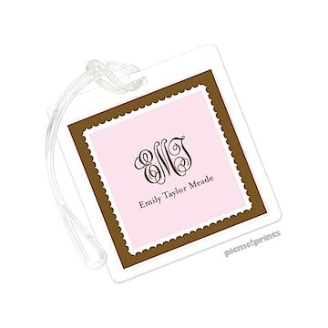 Pink Square Luggage Tag