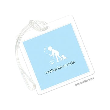Powder Square Luggage Tag
