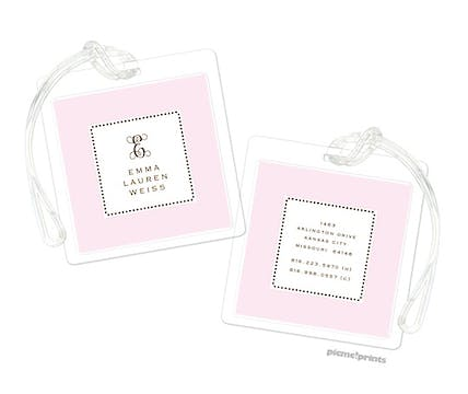 Tiny Beads Baby Pink Luggage Tag