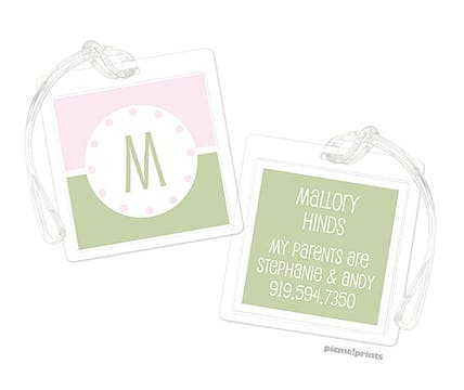 Just Like Ice Cream Baby Pink Luggage Tag