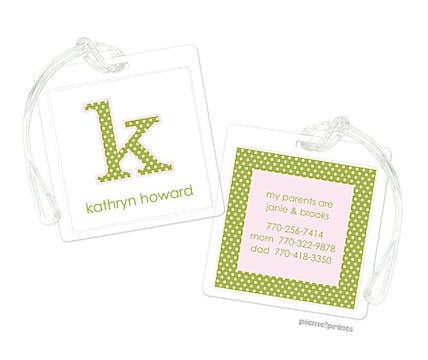 Big Letter Itty Bitty Luggage Tag