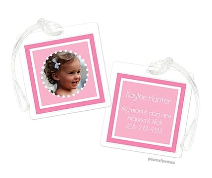 Little Me Bubblegum Digital Photo Luggage Tag