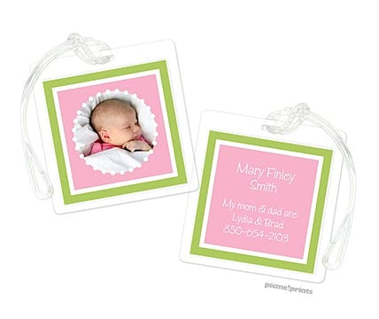 Little Me Grasshopper Pink Digital Photo Luggage Tag