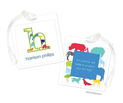 Big Letter Zoo Luggage Tag