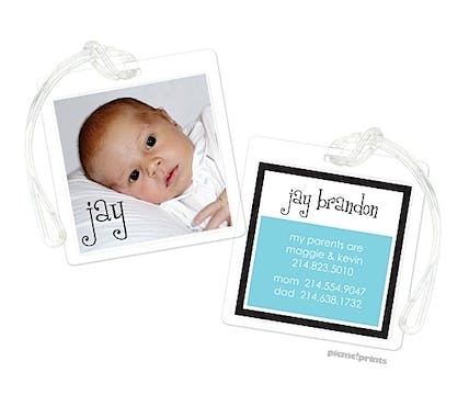Digital Photo Block Pool Luggage Tag