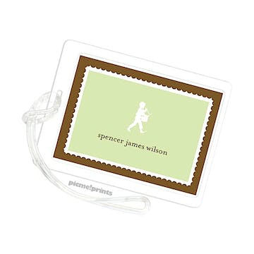 Spring Green Luggage Tag