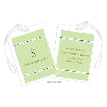 A Kiss Goodnight Spring Green Luggage Tag