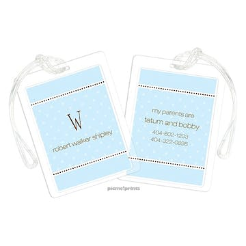 A Kiss Goodnight Baby Blue Luggage Tag
