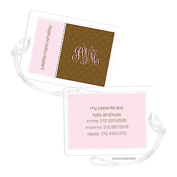 Pink Luggage Tag