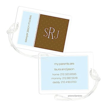 Baby Blue Luggage Tag