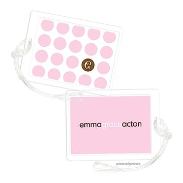 The Chocolate Dot Pink Luggage Tag