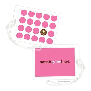 The Chocolate Dot Bubblegum Luggage Tag