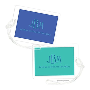 Cobalt Turquoise Luggage Tag