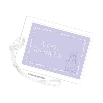 Bunny Love Light Purple Luggage Tag