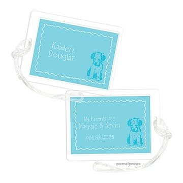 Puppy Love Pool Luggage Tag