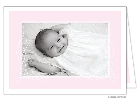 Baby Of Mine Baby Pink Girl Photo Birth Announcement