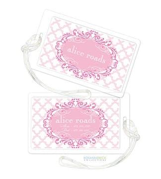 Scalloped Luggage Tag - Pink