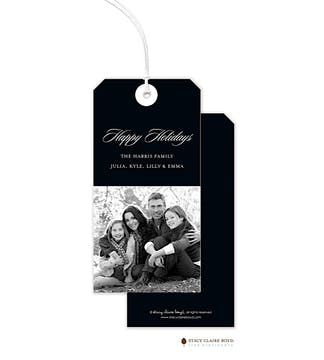 Black Digital Photo Hanging Gift Tag
