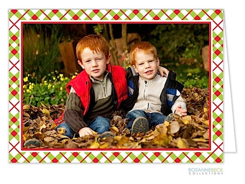 Holiday Plaid holiday Card