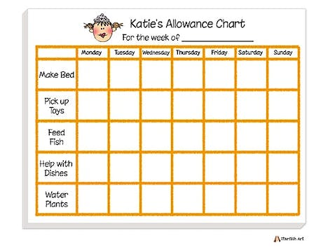 Personalized Character Chore Chart