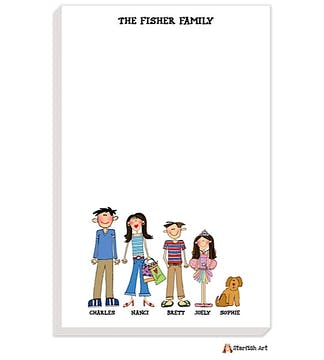 Personalized Character Family Notepad