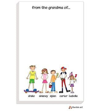 Personalized Character Grandparent Notepad