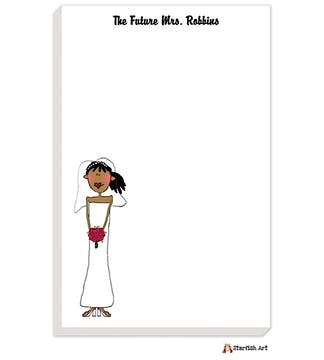 Personalized Character Bride Notepad