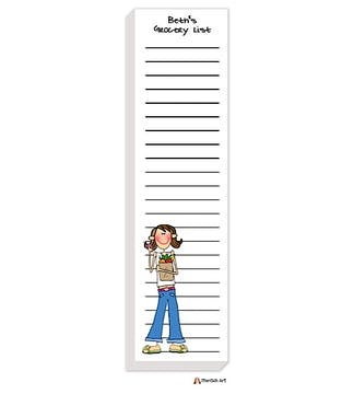 Personalized Character List Notepad