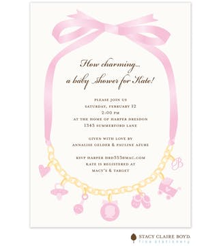 How Charming Pink Flat Card