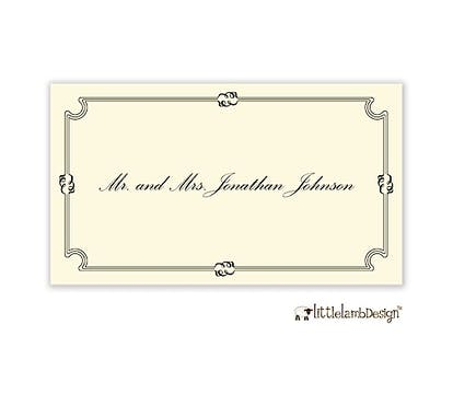 Fleuron Border Enclosure Card on IVORY