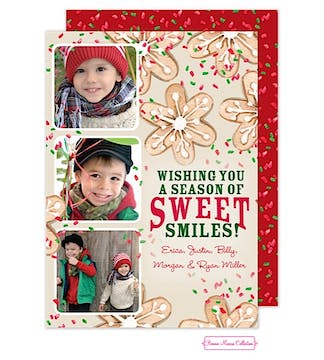 Holiday Cookies Flat Photo Card