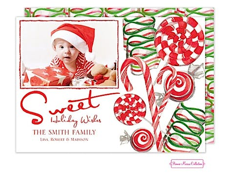 Sweet Holidays Flat Photo Card
