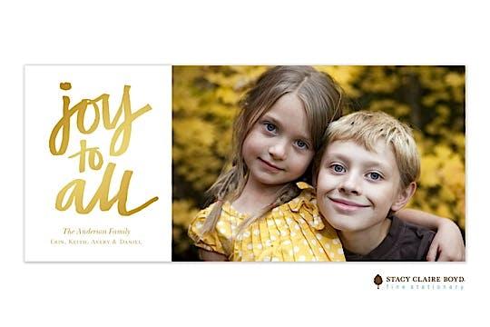 Golden Joy Flat Photo Card
