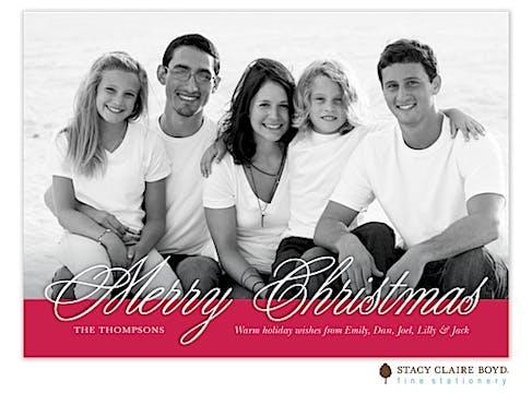 Christmas Spirit Flat Photo Card