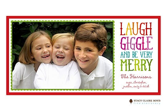 Giggle Print & Apply Flat Photo Card