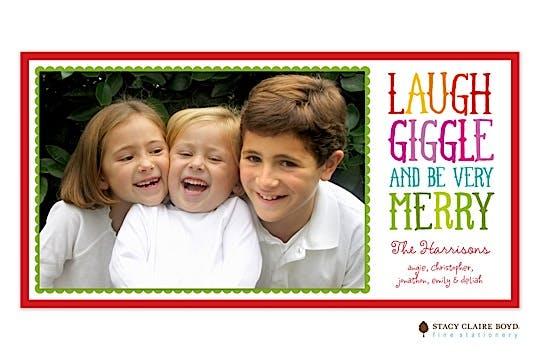 Giggle Print & Apply Flat Photo Card