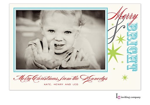 Merry & Bright Holiday Flat Photo Card