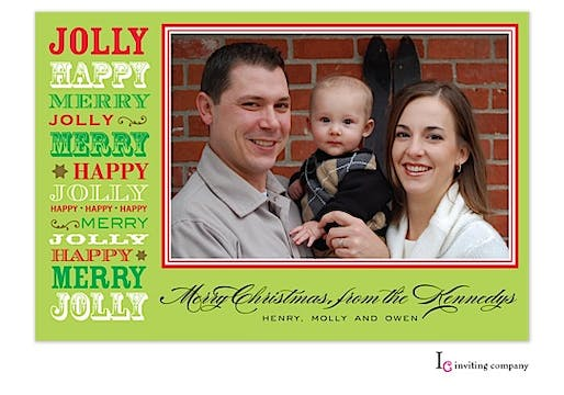 Holiday Speak Holiday Flat Photo Card