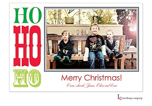 Tri Ho Holiday Flat Photo Card