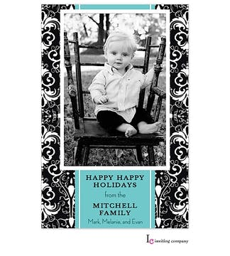 Organza Ink Holiday Flat Photo Card