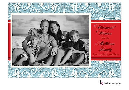 Organza Ice Holiday Flat Photo Card
