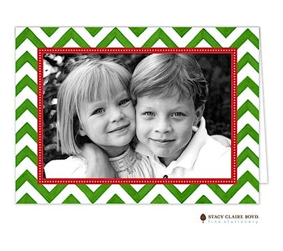 Painted Chevron Stripe Folded Photo Card