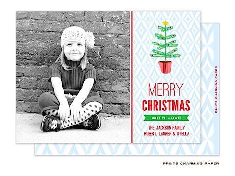 Sweet Christmas Tree Flat Photo Card
