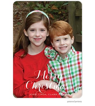 The Family Flat Photo Holiday Flat Photo Card