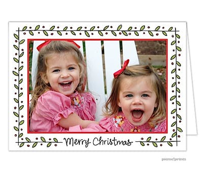 Holly & Berries Holiday Folded Photo Card