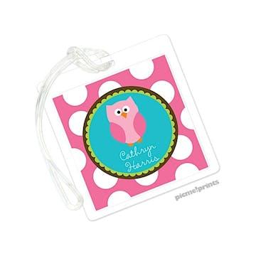 Owl Square ID Tag
