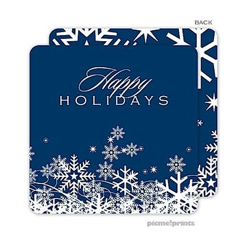 snow flurries navy Standard Coaster