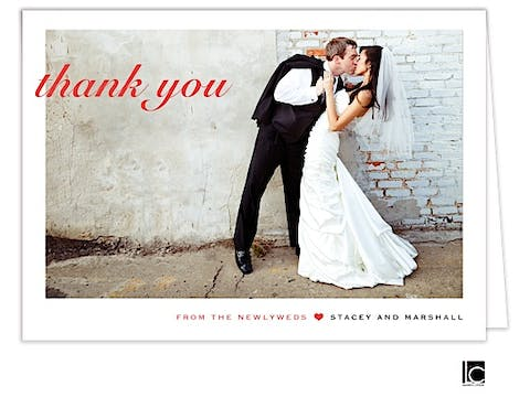 Wedding Digital Photo Thank You Note