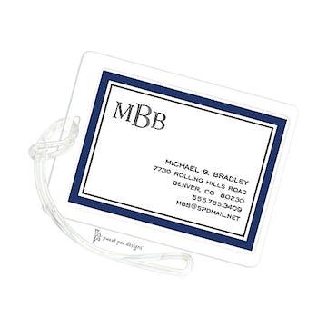 Timeless Border Navy & Black ID Tag