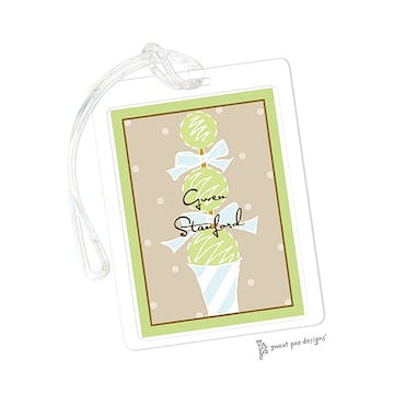 Topiary Lime & Chocolate ID Tag